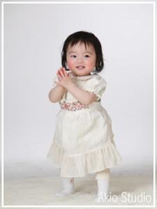 1歳お誕生日記念 まなみちゃんのハッピーバースデー 文京区よりご来店ありがとうございます