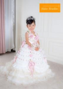 「とても良い笑顔を引き出してもらいました」七五三3歳 白いドレスで・・・