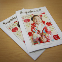 七五三写真がよく分かる小冊子 Say Cheese! でき上がりました!