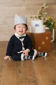 ニコニコがじょうずでした〜 1歳のお誕生日 練馬区石神井台より