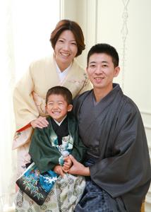 パパママもお着物で・・・ 七五三5歳 練馬区石神井台よりご来店ありがとうございます