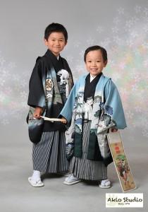 素敵なご兄弟の七五三写真 西東京市よりご来店ありがとうございました♪