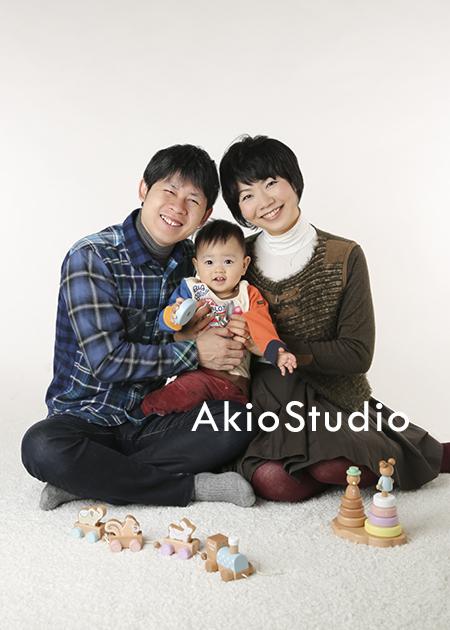 アキオスタジオ(1歳お誕生日)中野区より