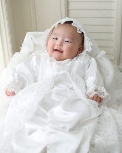 お宮参り ドレスで記念写真♪